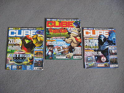 CUBE Issues 34, 37 & 39 Unofficial Nintendo Gamecube magazine 2004
