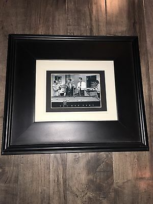 The Rat Pack Playing Pool Framed Photo Frank Sinatra Dean Martin 14x16 Matted