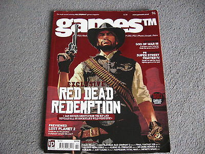 GamesTM Magazine Issue 94. Cover: Red Dead Redemption. Games TM magazine