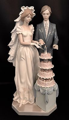 "VERY RARE & Large 13.50""~ Lladro ""Wedding Cake"" (5587 Mint in Box) FREE Shipping"