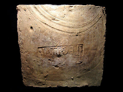 EXTREMELY RARE, WELL PRESERVED ROMAN *LEGIO I ITALICA*  BRICK with STAMP+++