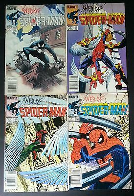 Web of Spider-Man #1-4 Marvel 1985 Key Issue Lot (#1 Lower Grade See Scans)