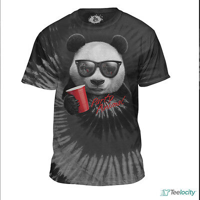 NEW Party Animal T-Shirt PANDA BEAR Red Solo Cup Tee