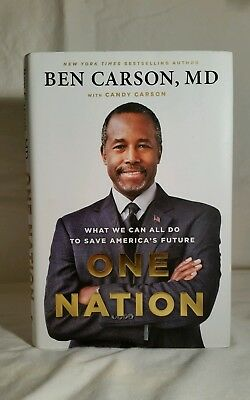 """Signed book BEN CARSON """"One Nation"""" 2014 1st Edition, 1st Printing"""