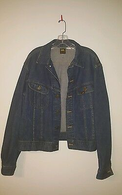 Vintage LEE Sanforized Indigo Denium Men's Jacket #153438