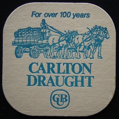 Carlton Draught CUB For Over 100 Years Coaster (B306)