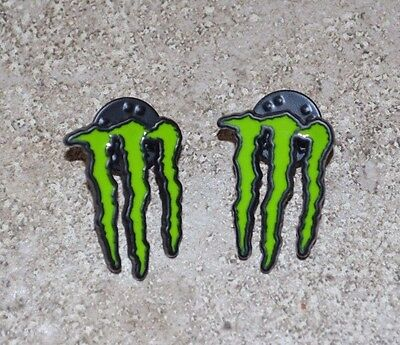 Lot of 2 Monster Energy Pins hat shirt pins