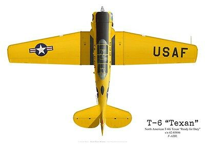 """Print North American T-6G Texan """"Ready for Duty"""", F-AZBL (by G. Marie)"""