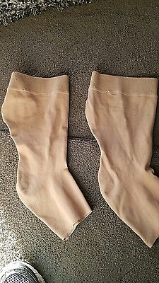 partex light below knee compression stockings  size 14  open toe