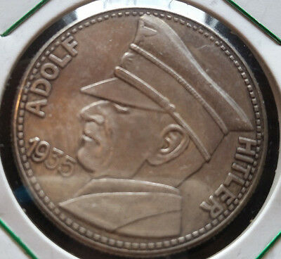 1935 German Adolf Hitler Token Coin WW2 Third Reich