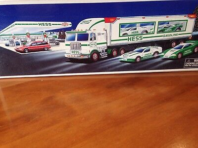 1997 Hess Collectible Toy Truck And Racers - New In Box - Never Opened