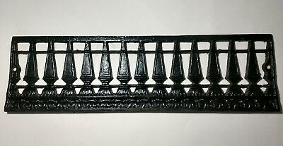 Antique Ornate Cast Iron Fireplace Surround Cover Insert 1890's Victorian Era
