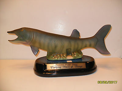 Jim Beam Muskie-Fishing Hall of Fame Building Decanter