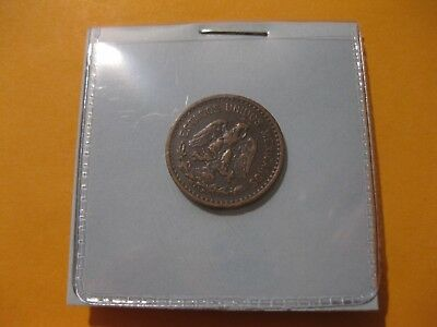 1891 Mexico Coin 1 Centavo  National Arms Bronze nice dark choc color