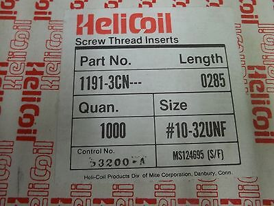 Helicoil, 1191-3CN, 10-32, free running tread inserts, roll:1000