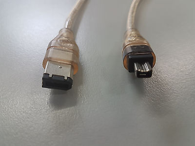 2m FireWire 6 Pin to 4 Pin Cable IEEE 1394 6P-4P Male-Male 6M/4M up to 400Mbps