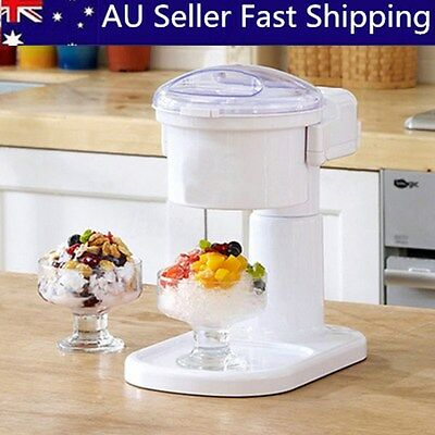 220V Commercial & Home Electric ICE CRUSHER Snow Cone Maker Ice Shaver Machine