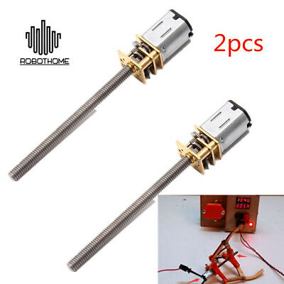 2pcs 16mm 12V 400RPM Long Shaft/Thread N20 Micro Grear Motor With Gear Box UK