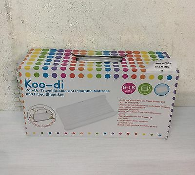 Inflatable Mattress, Pump & Fitted Sheet for PopUp Travel Bubble Cot from Koo-di