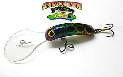 Australian Crafted Lures- 50mm slim invader aussie frog ;85, 30ft a.c.lures