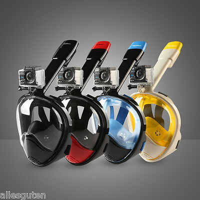 NEOpine Water Sports Anti-fog Full Face Snorkel Mask Scuba Goggles for Gopro New