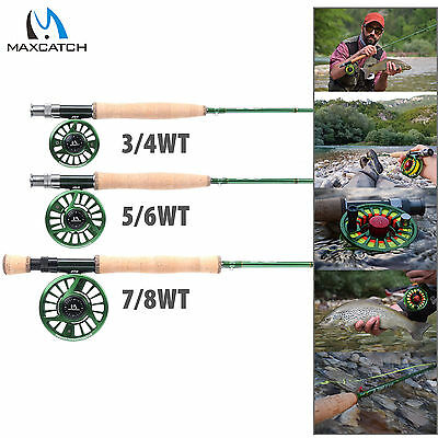Maxcatch 3/4/5/6/7/8/9/10WT Rod Combo Fast Action IM10 Fly Fishing Rod & Reel