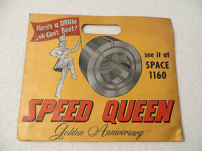 Vintage 1958 or 1959 SPEED QUEEN CONVENTION BAG Advertisement Golden Anniversary