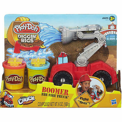 NEW Play-Doh Diggin' Rigs Boomer the Fire Truck. Free Delivery  FREE Postage