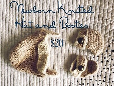 Newborn knitted Hat And Booties