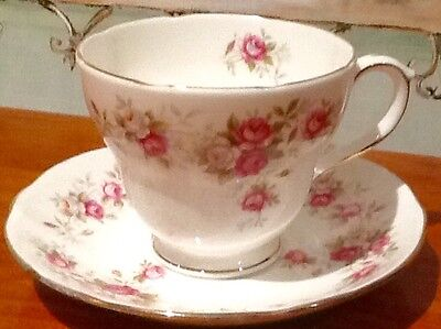 Shabby Chic Country Provincial June Bouquet Vintage Duchess Cup & Saucer Duo
