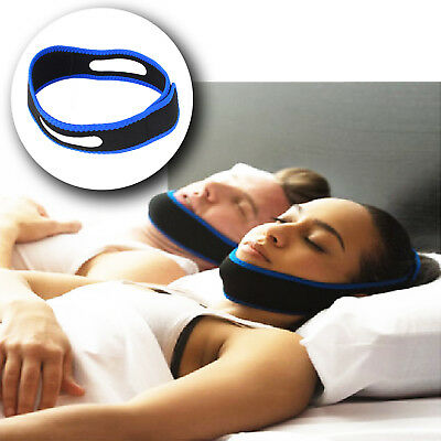 Adjustable Anti Snoring Chin Strap Belt Stop Snore  Apnea Jaw Support Solution
