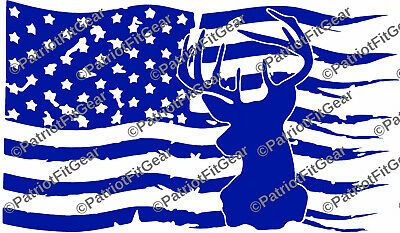 Buck Flag,Country Life,Hunting,Buck,Deer Hunting,Bow Hunter,Stickers,Vinyl Decal