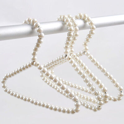 1Pcs Small Plastic Pearl Bow Clothes Hangers For Baby Kids Children Clothes Hook