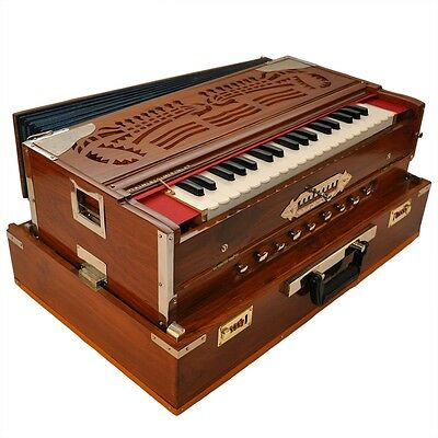 Pre-Insured Brand New 4 Reeds Professional Portable Harmonium 13 Scale Changer