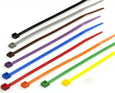 100 x 300mm x 4.8mm Strong nylon Cable Tie Ties zip fixing red black white blue