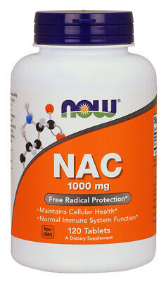 Now Foods NAC 1000 mg 120 Tabs N-ACETYL-CYSTEINE Amino Acids, Immune Support