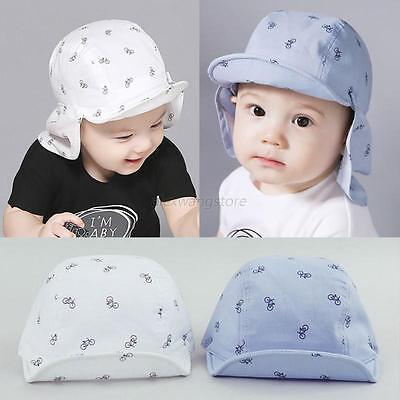 Newborn Baby Boy Girl Detachable Neck Protection Sun Hat Toddler Infant Soft Cap
