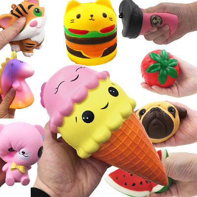 Kawaii Jumbo Squishy Fruit Breads Toast Rising Slow Bread Charm Funny Toys Gift