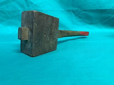 Vintage Small Wooden Carpenters Mallet Hammer Hand Tool