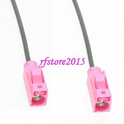 Cable RG174 6inch Fakra SMB H 4003 female to H female jack Pigtail Jumper