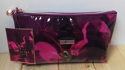 Bnwt Genuine Ted Baker 2017 Autumn/winter Small Pvc Wash / Make Up Bag