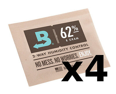 Boveda 62% RH 8 gram Humidipak - 4 Pack - 2-way Humidity Control (8g) RM24