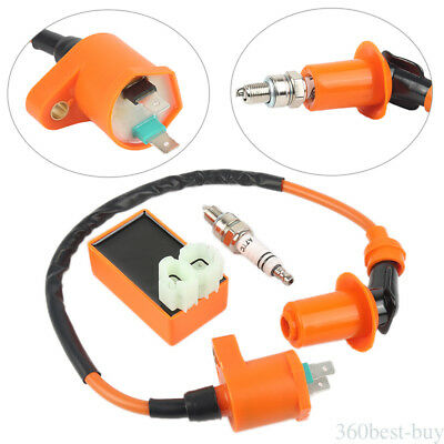 For Scooter GY6 50CC 125CC Racing Ignition Coil & Spark Plug & AC CDI Auto Parts