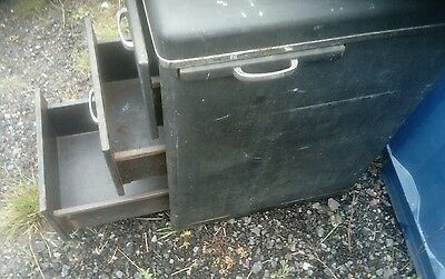 vintage chrome and matt metal industrial chest of drawers