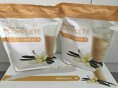 JUICE PLUS Vanilla shake pouch x2, New & Sealed 02/18
