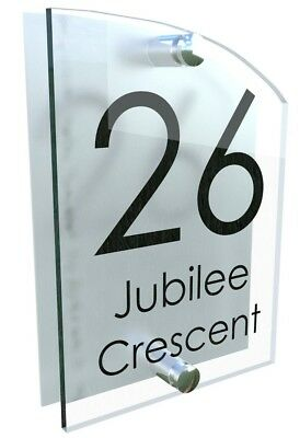Contemporary House Sign Plaques Door Numbers  Personalised Acrylic Name Plate