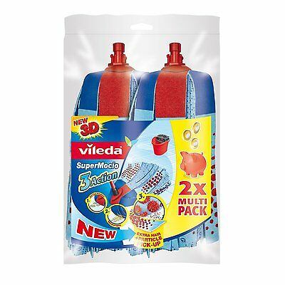 Vileda SuperMocio 3 Action Replacement Head Mop Refill PACK of 2