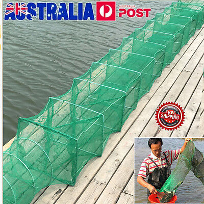 3.2m Crab Crayfish Lobster Catcher Live Trap Fish Net Eel Prawn Shrimp Live Bait