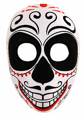 Adults Day Of The Dead Skeleton Face Mask Halloween Accessory