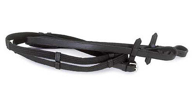 Windsor Equestrian Leather Continental Reins - Brown Or Black, Full Size